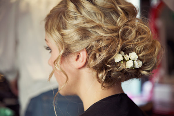 Chic City Film Wedding Curled Hair Up Do Bride  http://marthaandgeorge.com/