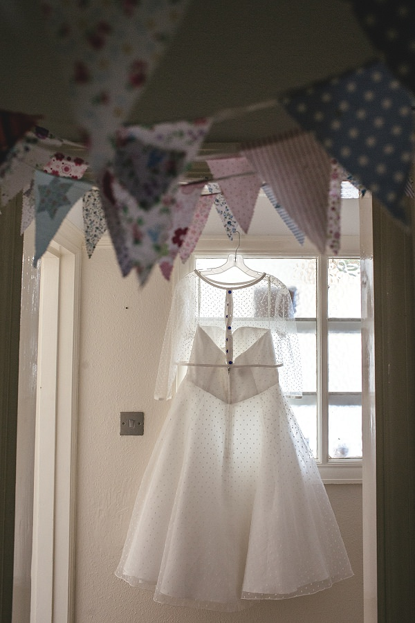 Multicoloured London Quirky Wedding Polka Dot Dress http://www.kat-hill.com/