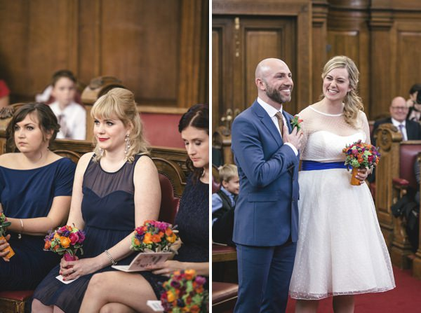 Multicoloured London Quirky Wedding http://www.kat-hill.com/