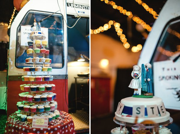Multicoloured London Quirky Wedding Cupcakes http://www.kat-hill.com/