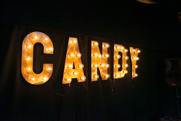 Colourful Fun Candy Wedding Letter Lights http://www.julietteharrison.co.uk/