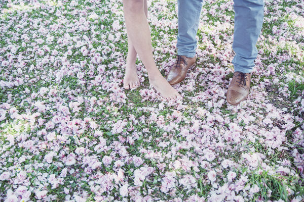 Barefoot Spring Blossom Engagement http://www.silverstarphotographic.co.uk/