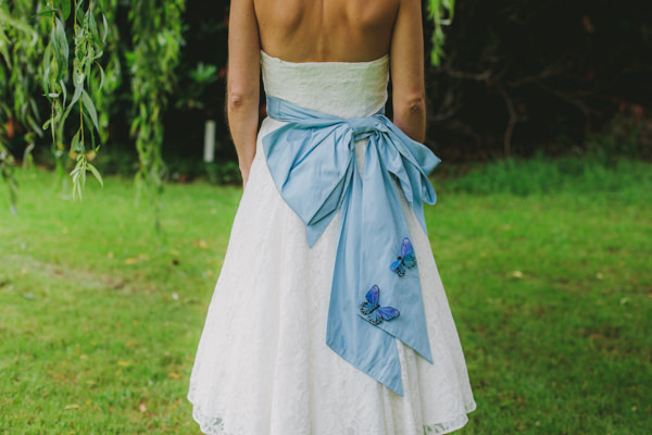 Alice in Wonderland Wedding Butterfly Blue Sash Dress http://www.lucylittle.co.uk/