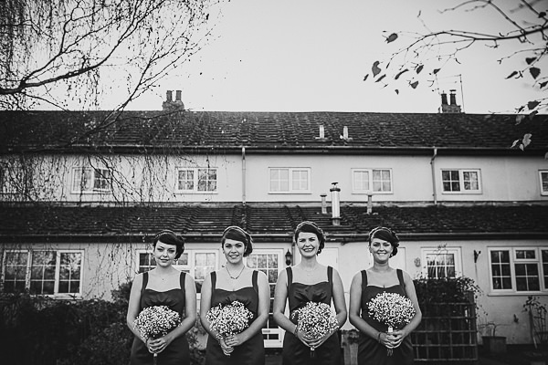 Bridesmaids in Black Dresses http://storry.co.uk/