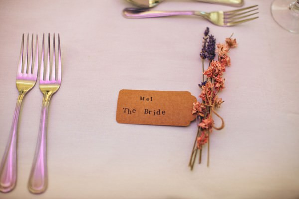 Luggage Tag Dried Flowers Place Name Setting http://campbellphotography.co.uk/