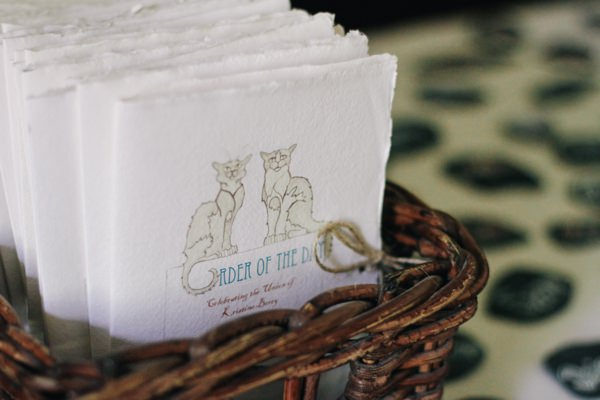 Colouful Crafty Origami Wedding Order of Service Cats http://mattbowenphotography.co.uk/