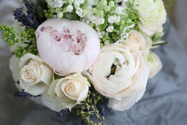 Woodland Animal Barn Wedding Peony Bouquet http://www.rebeccaprigmorephotography.com/