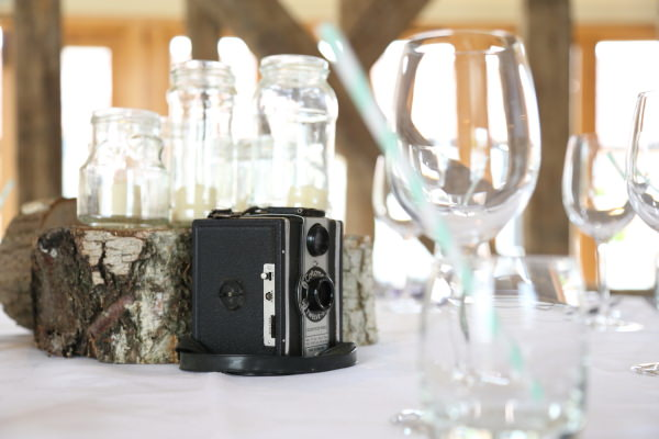 Woodland Animal Barn Wedding Vintage Cameras http://www.rebeccaprigmorephotography.com/