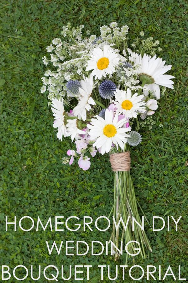 Homegrown DIY Wedding Bridal Bouquet Tutorial 28