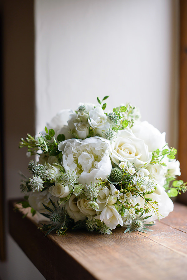 Whimsical Chic Country Wedding White Peony Bouquet Bridal http://www.johastingsphotography.co.uk/