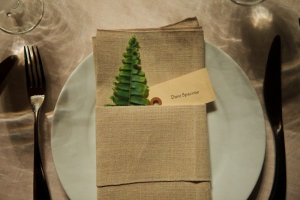 Rustic Natural Fern Linen Place Name Setting http://mbmaher.com/