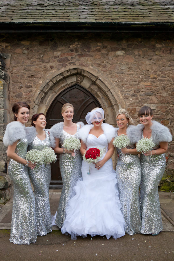 Sequin Sparkle Silver Bridesmaid Dresses Ideas http://www.alilovegrovephotography.com/