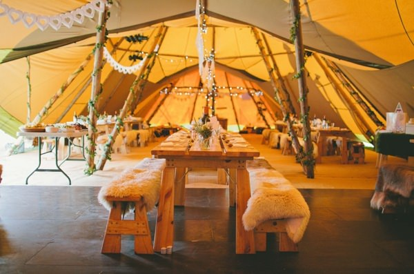 Cosy Blankets Tipi Wedding Ideas http://www.mattwillisphotography.com/