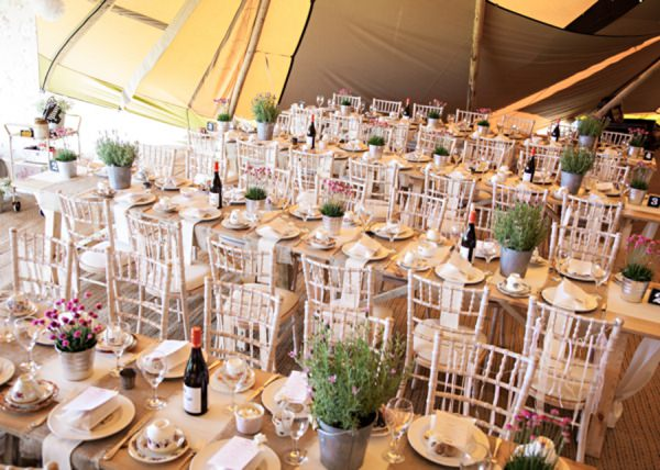 Tipi Wedding Inside Tables http://hbaphotography.com/