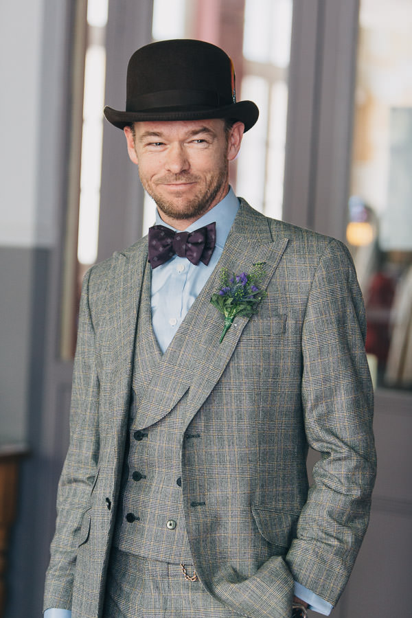 Vintage London Wedding Tweed Groom http://www.murrayclarke.co.uk/