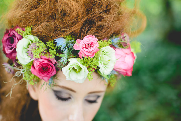 Magical Woodland Wedding Ideas Flower Crown Headdress Halo Garland Bride http://www.kanashay.com/