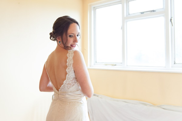 Multicoloured Pom Pom Lido Cafe Wedding Lusan Mandongus Dress Bride Lace http://fionasweddingphotography.co.uk/