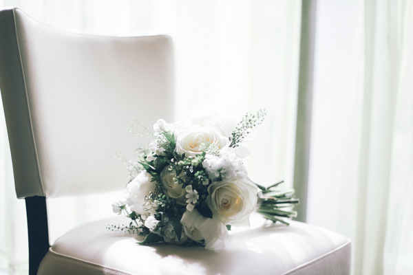 DIY White City Wedding White Bouquet http://www.amyfaithphotography.com/
