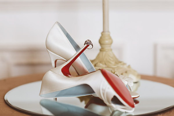 Christian Louboutin Shoes Heels Classic Elegant Country House Wedding http://www.jayrowden.com/