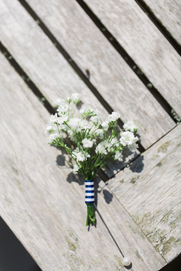 Stylish Relaxed Country Wedding White Buttonhole ttp://www.lisadawn.co.uk/