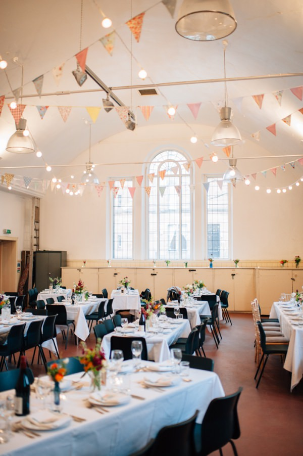 Colourful City Hall Wedding Bunting Festoon Lights  http://www.lisadevinephotography.co.uk/
