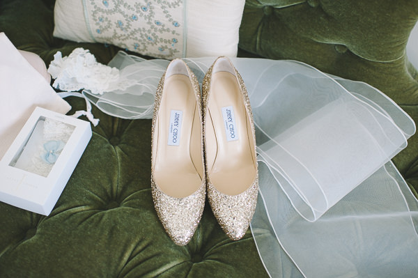 Jimmy Choo Glitter Wedding Bride Shoes http://www.lisadevinephotography.co.uk/