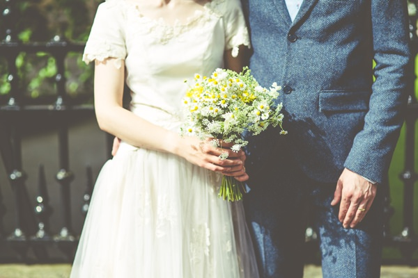 Crafty Hand Sewn Vintage Wedding Daisy Bouquet http://www.njphotographic.co.uk/