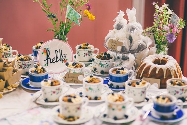 Crafty Hand Sewn Vintage Wedding Tea Cup Cakes Table http://www.njphotographic.co.uk/
