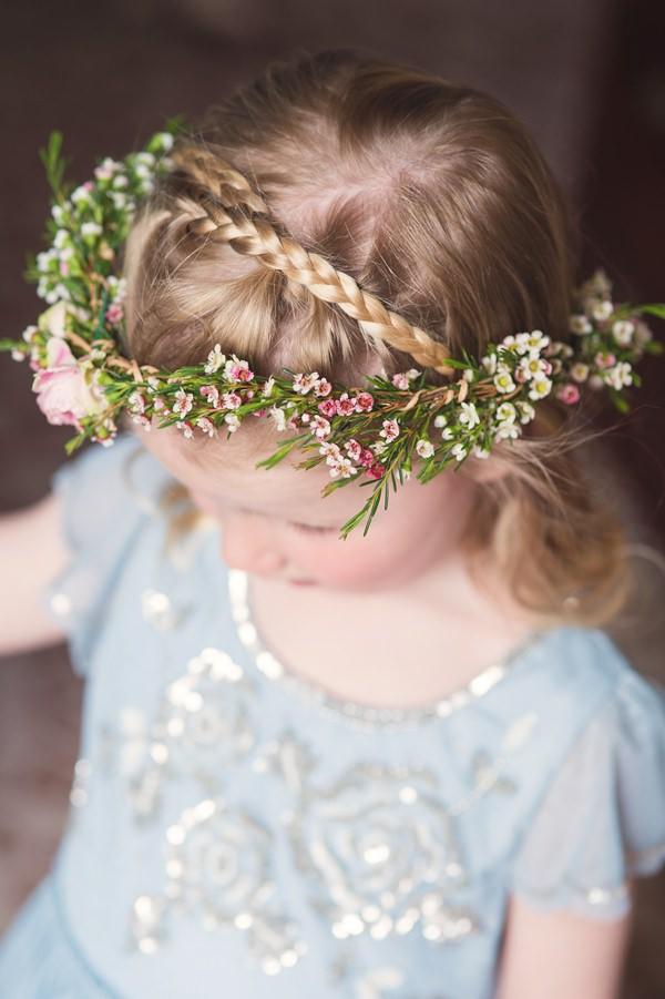 Floral Elegant London Wedding Flower Crown Garland Plait Hair Flower Girl http://www.georgimabee.com/