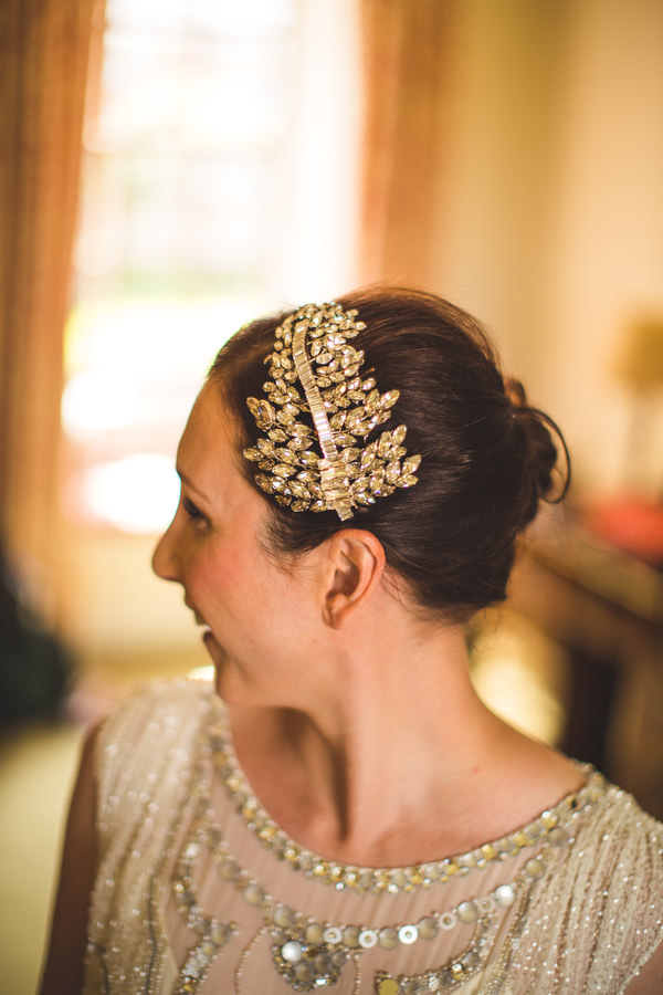 English Country Garden Downton Abbey Wedding Polly Edwards Bride Hair Piece http://www.s6photography.co.uk/