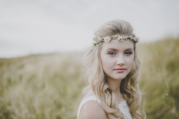 Bohemian Countryside Wedding Ideas Flower Garland Crown Hair http://www.frankee-victoria.co.uk/
