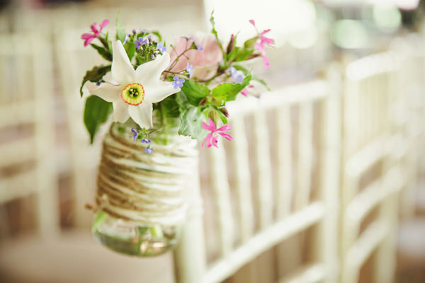 Dinner Party Midsummer Night's Dream Wedding Jar Chair Flowers http://www.gemmawilliamsphotography.co.uk/