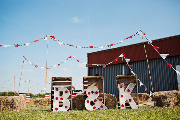 Funfair Farm DIY Wedding Bunting Letter Lights http://www.kathrynedwardsphotography.com/