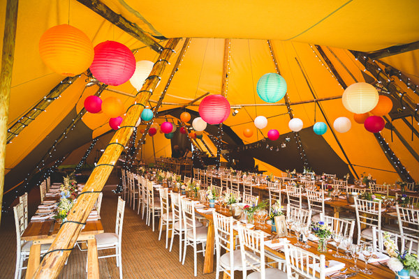 Colourful Garden Tipi Wedding http://www.jacksonandcophotography.com/