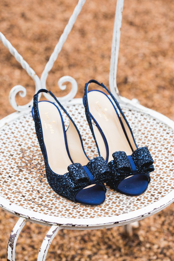 Kate Spade Wedding Shoes Blue Glitter Bow Bride http://www.mandjphotos.com/