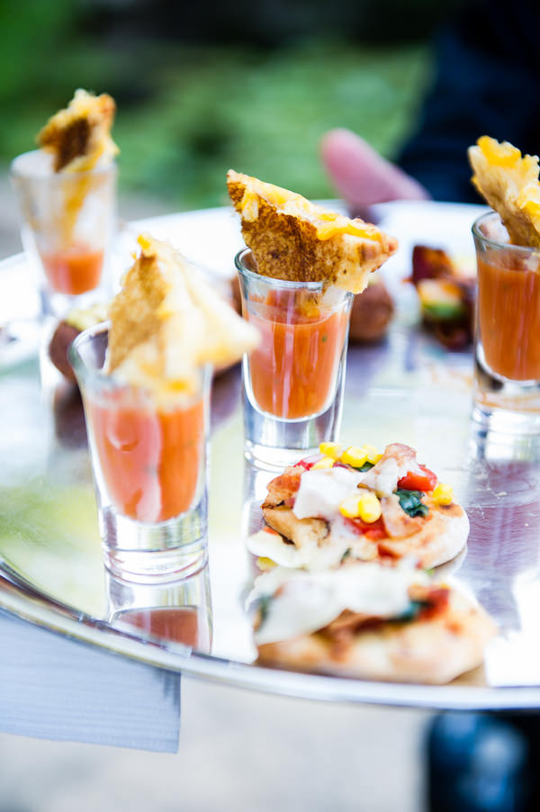 Colourful Chic Outdoor Spring Texas Wedding Canapes http://www.coryryan.com/