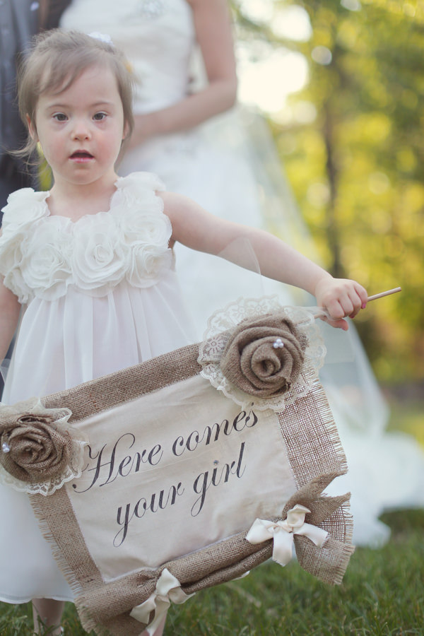 Rustic Farm Tennessee Wedding Here Comes Your Girl Sign Flowergirl http://www.julierobertsphoto.com/