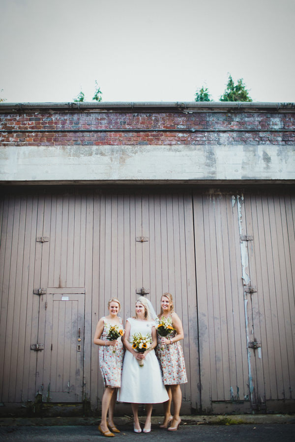 Eclectic Quirky Wedding Floral Bridesmaid Dresses http://www.claudiarosecarter.co.uk/