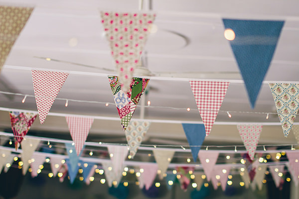 1950s Spring Village Fete Wedding Bunting Fairy Lights http://www.lifelinephotography.co.uk/