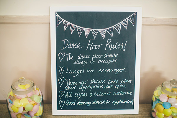 1950s Spring Village Fete Wedding Dance Floor Rules Sign http://www.lifelinephotography.co.uk/