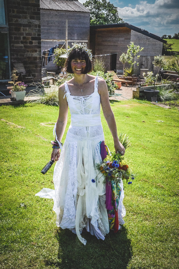 Colourful Festival Wedding Alternative Bride Bohemian http://www.pixiesinthecellar.co.uk/