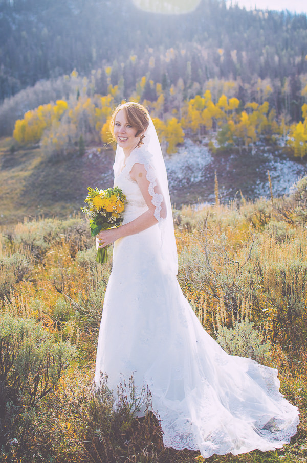 Snow Mountain Ranch Colorado Wedding Lace Dress Veil Bride http://www.searchingforthelight.com/