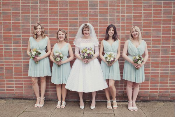 Quirky City Wedding Mint Bridesmaid Dresses http://www.philippajamesphotography.com/
