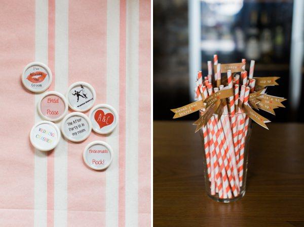 Whimsical Woodland Fairytale Wedding Badges Straws http://www.lisadawn.co.uk/
