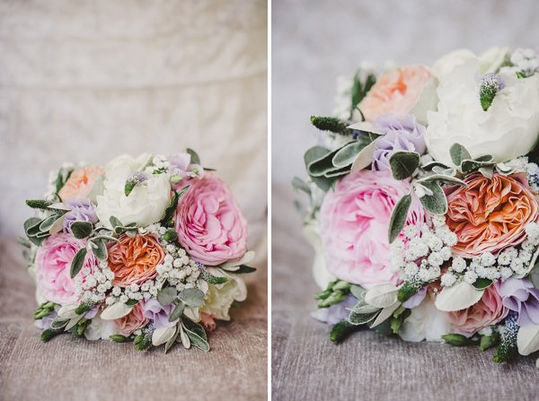 Stylish Rustic Barn Wedding Peony Rose Pink Coral Bridal Bouquet http://www.lolarosephotography.com/