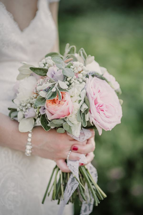 Stylish Rustic Barn Wedding Pink Coral Peony Rose Bridal Bouquet http://www.lolarosephotography.com/