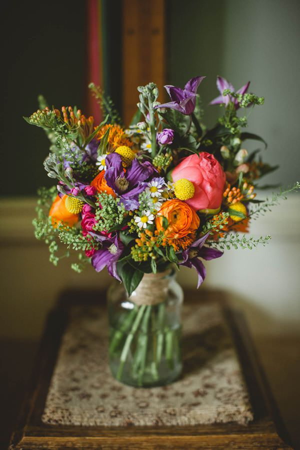 Colourful Homemade Origami Wedding Bridal Bouquet Multicoloured Spring  http://christophercurrie.co.uk/