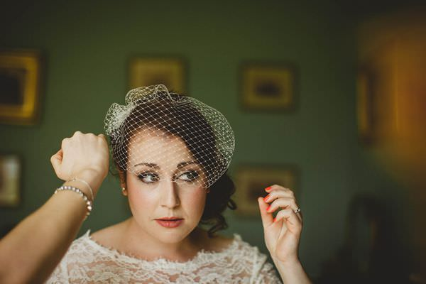 Colourful Homemade Origami Wedding Birdcage Veil Bride http://christophercurrie.co.uk/