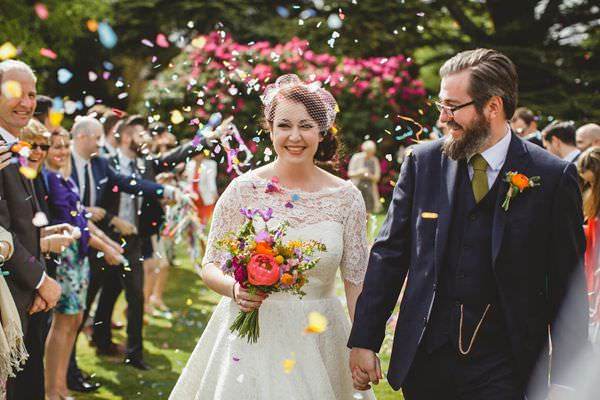 Colourful Homemade Origami Wedding  Confetti http://christophercurrie.co.uk/