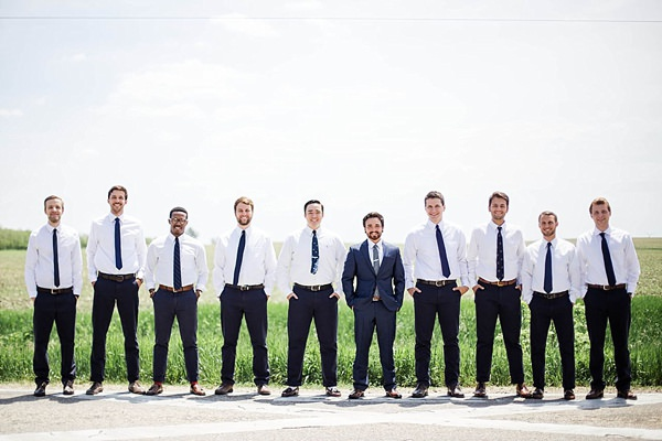 Indie Barefoot Farm Wedding Groom Shirt Tie http://jackandhannah.com/